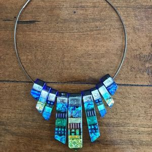 Michele McManus Epiphany Dichotic Glass Choker